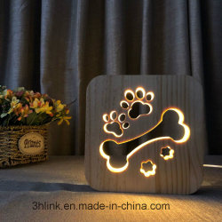USB 선물을%s 운반 테이블 램프 목제 기본적인 훈장 램프