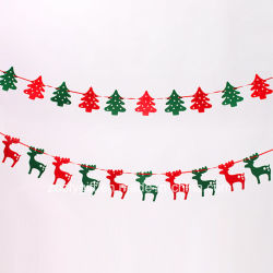 Rendier die Gevoelde Decoratie/het Gevoelde Hangende Ornament van de Boom van Kerstmis hangen