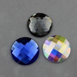 Оптовая торговля 30мм стекло камень гладкой стороне украшения аксессуары