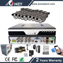 2MP 1080P 8CH DIY Home Security Camera Kit, Ahd DVR Kit