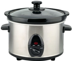 2.5L Stainless Steel Housing Mechanical Slow Cooker