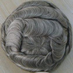 На складе сверхтонкий коже волосы мужчин Toupee Индии