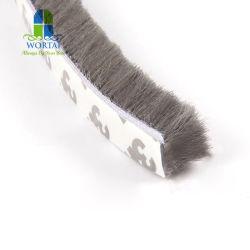 Cepillo de cristal sellado con material de PP y cinta hermético Burlete para puertas y ventanas