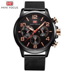 小型焦点の水晶日本動きの自動人の腕時計
