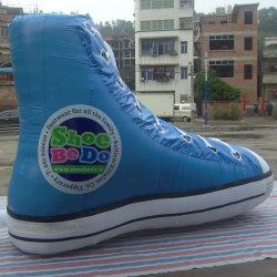 يبيطر اللون الأزرق قابل للنفخ نموذجيّة /Inflatable منتوجات حذاء ضخمة لأنّ يعلن