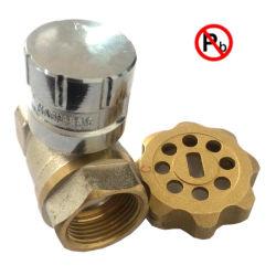Faible teneur en plomb vanne magnétique en laiton verrouillable avec clé