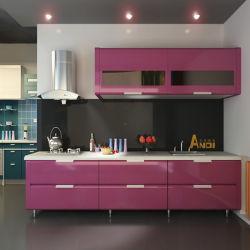 Verniz brilhante de alta porta MDF armário de cozinha (K-109)