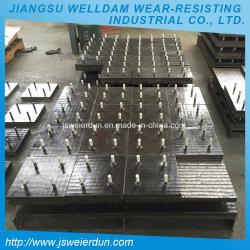 La sovrapposizione d'acciaio del carburo del bicromato di potassio di resistenza termica placca le parti di estrazione mineraria che portano il piatto per le traverse da letto del camion