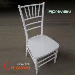 Ereignisse des weißes Metallknochen-Rahmen-Harz-pp. Chiavari, die Stuhl speisen