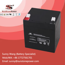 12V 5ahの機密保護の警報システムのための深いサイクルSMF AGMの鉛酸VRLAの電池
