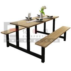 現代家具の木のレストランの座席ブースのダイニングテーブル