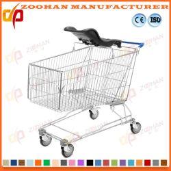 Carrinho de Compras de supermercado de metal Plástico moldado carrinho de bebé (Banco Zht184)