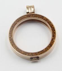 Blocco per grafici dell'oro con il pendente del Locket di Zirconia dell'oro per i monili di modo