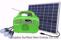 10w Zonnepaneel Fm/Mp3/Ondersteunende Ventilator Solar Home Lighting System/Kit/Light Voor Elektriciteitsgebrek Gebieden