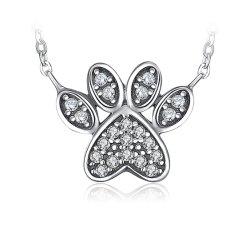 S925 Sterling Silver Necklaces chien Paw Colliers Pendentifs Charms Necklaces Pet de bébé pour les femmes