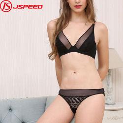 Custom женщин Леди Sexy белье кружевной бюстгальтер и прозрачных Panty нижнее белье с высоким качеством