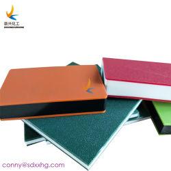 Dos de color de hoja de HDPE de plástico de polietileno placa Sandwich en dos colores.