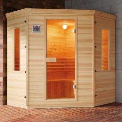 Indoor Corner Diamond-Vormige Solid Wood Far Infrarood Sauna Kamer