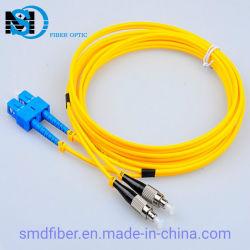 Monomode SC/UPC-FC/UPC Cordon de brassage à fibres optiques pour le réseau