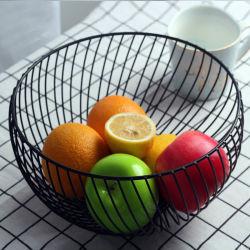 Ручная работа долговечный металлический провод сетка корзина фруктов за обеденным столом