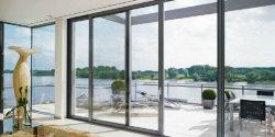 La pendaison en aluminium personnalisé porte en verre coulissante