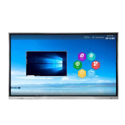 2つのOSのアンドロイドWindowsが付いている65インチLCDのタッチ画面のデジタル表記の表示を取付ける壁