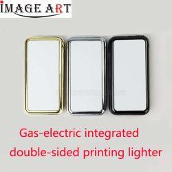 Gas und Elektrizitäts-zweifach verwendbares Feuerzeug-doppelseitiger Wärmeübertragung-Drucken-Feuerzeug USB, der für Großverkauf auflädt