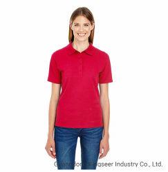Дамы моды сухой быстрый короткие втулки спортзал женщин хлопчатобумажной ткани в горловину спорта работает поло Tshirt