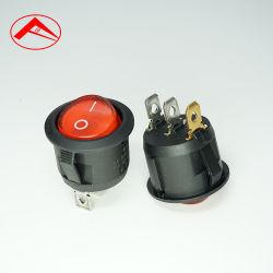Interrupteur des feux de l'interrupteur à bascule ronds 3broches 2positions ON-OFF Contacteur Mini LED électrique en bateau pour le ménage