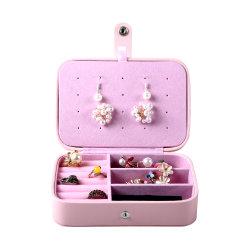 Titular de arete pequeño mayorista de viajes personalizada del organizador Organizador de la caja de joyas collar de joyas anillos de soporte de caja de embalaje