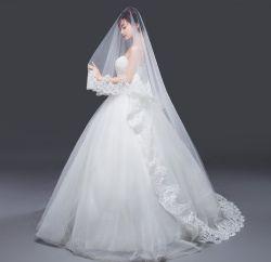 يحجب شريط طويلة عرس مجوهرات زفافيّ ثوب شريكات