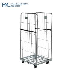 Commerce de gros supermarché Huameilong Nestable de stockage personnalisé cages de retournement en métal