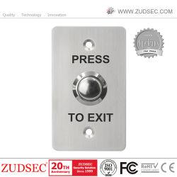 Porte de sécurité en acier inoxydable de gros bouton Quitter pour le système de contrôle d'accès