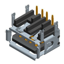 Auto Parts connettore femmina USB AF 2.0 ISO9001 a 4 pin Cavo dati per chiavetta USB RoHS