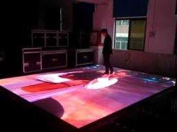 شاشة عرض أرضية ستارة فيديو LED كاملة الألوان لخلفية الشاشة طراز P4.8 مم الشاشة