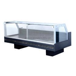 Verre Stright avant de servir plus de vitrine pour la viande réfrigérée compteur