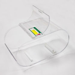 Caja de caramelos de acrílico transparente envase transparente las tuercas de Cookie Expositor