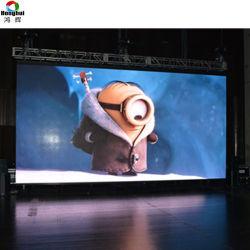 Для использования вне помещений Полноцветный кривой P РП3.91 P4.81 аренду светодиодный дисплей для рекламы на экране панели управления (500*500 мм)