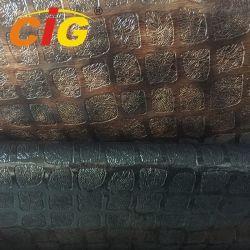 137 cm de largura 0,6mm PVC mobiliário em relevo decoração tecido de couro com revestimento macio resistente ao rasgo