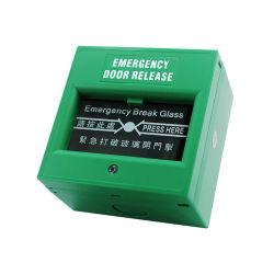 緑の赤い任意選択ドアリリース壊れ目の火災報知器システムのためのガラス非常口の火の壊れ目ガラス