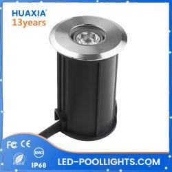 La taille de la mine de vente chaude 62mm Inground lumière LED 1W éclaireur de sol à LED 3 W