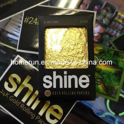 Qualidade de Nice Rolling a ouro 24k o papel de fumar