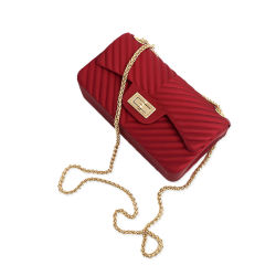 De Beurs van de Luxe van de manier de Zak van de Gelei van de Handtassen van Dame Crossbody Chain Bags Colorful pvc voor Vrouwen
