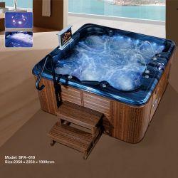 럭셔리한 6인용 스파 스파 온수 욕조 하이드로테라피 마사지 목욕