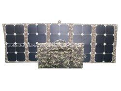 、Powerbankのラップトップキャンプのための太陽電池パネルの充電器、携帯電話を折る130W 18V 12Vのポータブル