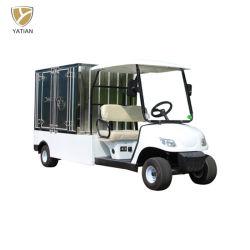 4 Lugares Park Golf Cart Electric para passeios turísticos, Utilitário Golf Carro de aço com a caixa de carga