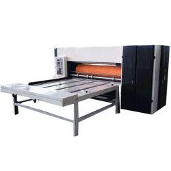 회전하는 반 자동적인 사슬 공급은 물결 모양 두꺼운 종이를 위한 절단기 기계를 정지한다