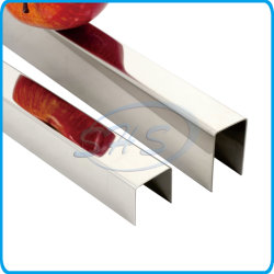 Profilo scanalato a U in acciaio inox AISI304, striscia di bordatura per porte, Cornici con rosoni per sfondo