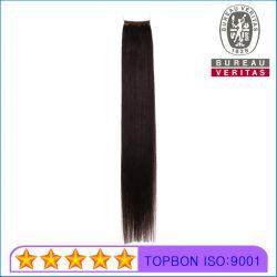 capelli diritti serici di Remy di estensione dei capelli dei capelli Feather/No-Tip del Virgin di stile di colore del nero del grado 10A