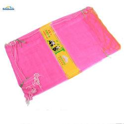 La maglia di plastica riutilizzabile di Momofilament lavorata a maglia HDPE/PP insacca il sacchetto di lavoro a maglia dell'aglio